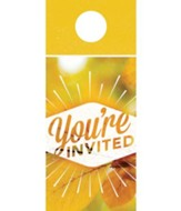 You're Invited Door Hanger, Pack of 150 (burst design)
