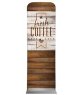 Barn Wood Coffee 2' x 6' Fabric Sleeve Banner