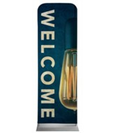 Retro Light Welcome 2' x 6' Fabric Sleeve Banner