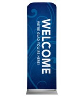 Flourish Welcome 2' x 6' Fabric Sleeve Banner