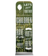 Phrases Children 2' x 6' Fabric Sleeve Banner
