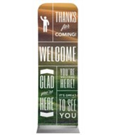 Phrases Welcome 2' x 6' Fabric Sleeve Banner