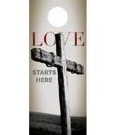 Love Starts Here Door Hanger, Pack of 150