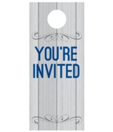 Painted Wood Welcome Door Hanger, Pack of 150