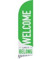 To Belong Green Flag Banner