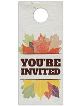 Stamped Leaves Door Hanger, Pack of 150