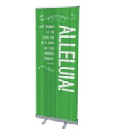 Painted Wood Alleluia (31 inch x 79 inch) RollUp Banner