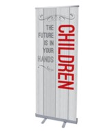 Painted Wood Children (31 inch x 79 inch) RollUp Banner