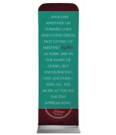 Together Circles Heb 10 2' x 6' Fabric Sleeve Banner
