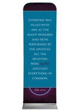 Together Circles Acts 2 2' x 6' Fabric Sleeve Banner