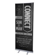Chalkboard Art Connect (31 inch x 79 inch) RollUp Banner