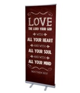 Chalkboard Art Red (31 inch x 79 inch) RollUp Banner