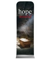 Hope Revealed Manger 2' x 6' Fabric Sleeve Banner