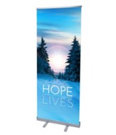 Hope Lives (31 inch x 79 inch) RollUp Banner