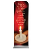 Glory to God Candle 2' x 6' Fabric Sleeve Banner