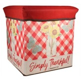 Simply Thankful Collapsible Storage Box