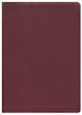 NAS Giant Print Reference Bible, Genuine leather, Burgundy