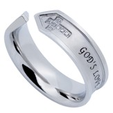 God's Love Nexus Women's Ring, Size 5 (1Corinthians 13:8)