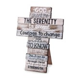 Serenity Prayer Stacked Words Cross, Small
