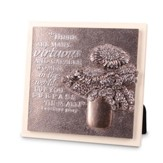 Flowers, There Are Many Virtuous and Caring Women Plaque