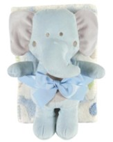 Elephant Blanket and Toy Set, Blue