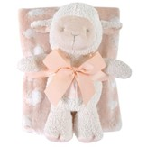 Lamb Blanket and Toy Set, Pink