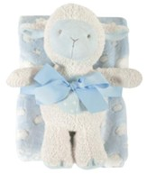 Lamb Blanket and Toy Set, Blue