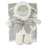 Lamb Blanket and Toy Set, Gray