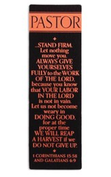 Stand Firm Pastor Bookmark