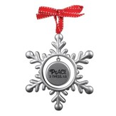 Peace (2 Thess 1:2), Snowflake Ornament
