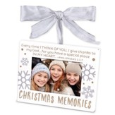 Christmas Memories, Photo Frame Ornament, White