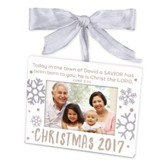 2017 Christmas, Photo Frame Ornament, White