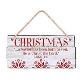 Christmas, A Savior Has Been Born To You, Rustic Ornament