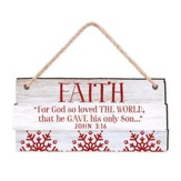 Faith, For God So Loved the World, Rustic Ornament