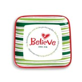 Believe Christmas Tray (John 3:16)