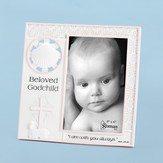 Beloved Godchild Photo Frame, Pink