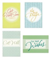 Get Well, Large Print Cards, Box of 12
