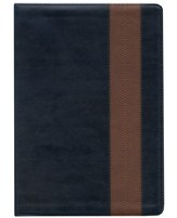 ESV Study Bible, TruTone, Navy/Tan, Band Design - Slightly Imperfect
