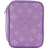 Bedazzled Cross Bible Cover, Purple, Large