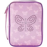 Bedazzled Butterfly Bible Cover, Pink, Large