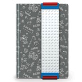 LEGO Journal with Building Band, Gray