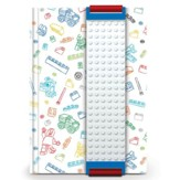 LEGO Journal with Building Band, White