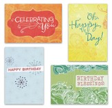 Fresh Patterns Birthday Cards, Box of 12