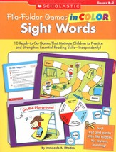 File-Folder Games in Color: Sight Words