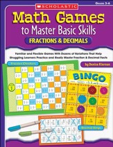 Math Games to Master Basic Skills: Fractions & Decimals
