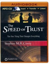 The Speed of Trust - Live Performance - abridged audiobook on CD