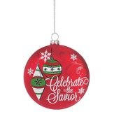 Celebrate the Savior Ornament, Red - Slightly Imperfect