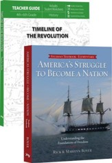Timeline of the Revolution Pack,  4th-6th Grade, 2 Volumes