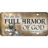 Full Armor of God License Plate