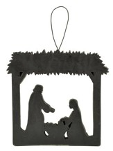 Nativity Silhouette Ornament, Black
